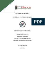 Procesos de Manufactura - Aceros