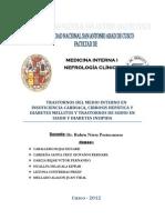 ALTERACIONES ELECTROLITICAS EN INSUFICIENCIA CARDIACA, DIABETES Y CIRROSIS