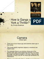How is Gangs of New York a Thriller
