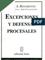 Excepciones y Defensas Procesales - Omar a. Benabentos