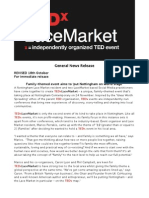 TEDxLaceMarket - General Press Release