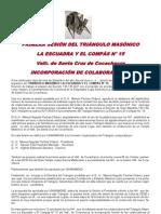 Cronica Primera Reunion Triangulo Masonico La Escuadra y El Compas