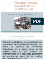 Comercio Ambulatorio Origen y Evolucion