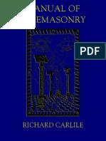 Manual of Freemasonry - Richard Carlile