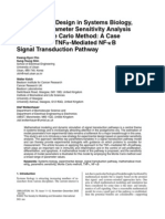 Experimental Design in Systems Biology Based on Parameter Sensitivity Analysis Using a Monte Carlo Method