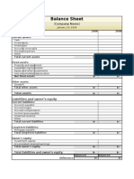 Two Year Balance Sheet