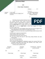 Contoh Format Permohonan Pencairan Hibah Tahun 2012