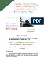 ENVÍO A VARIOS DE  DUELO DE DAMAS Y CALZONAZOS 28 Y 29 AGOSTO