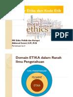 Struktur Etika Dan Kode Etik
