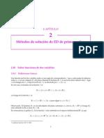 Métodos de Solución de Ecuaciones Diferenciales de primer orden