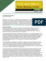 US Rare Earth Minerals, Inc. - 5/15/2012 Press Release
