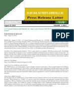 US Rare Earth Minerals, Inc. - USREM Press Release 08-12-2010