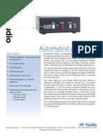 JK Audio AutoHybrid Datasheet