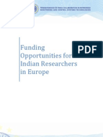 Euclid Funding Opportunities for Indian Researchers in Europe