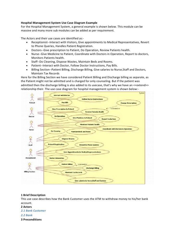 Hospital management system use case diagram example automated hospital management system use case diagram example automated teller machine use case ccuart Images
