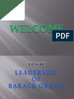 Leadership of Baraq Obama