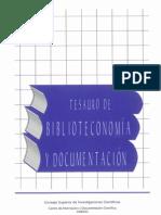 Tesauro de biblioteconomía y documentación