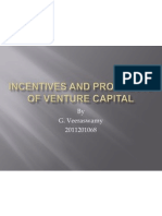 Incentives and Prospects of Venture Capital