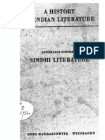 A History of Indian Literature Part of Vol VIII Sindhi Literature - J Gonda