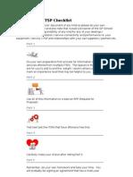 SIP Trunking - Checklist 2011