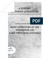 A History of Indian Literature Vol VIII Fasc. 2 Hindi Literature of the Nineteenth and Early Twentieth Centuries - J Gonda