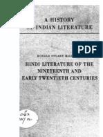 A History of Indian Literature Vol VIII Fasc. 2 Hindi Literature of the Nineteenth and Early Twentieth Centuries - J Gonda