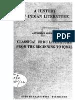 A History of Indian Literature Vol VIII Fasc. 3 Classical Urdu Literature From the Beginning to Iqbal - J Gonda