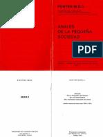 JULIO CHEVALIER MSC., Anales de la Pequeña Sociedad