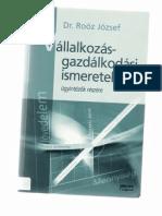 Dr. Roóz József - Vállalkozásgazdálkodási ismeretek