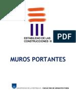 Universidad de La Republica Estabilidad de Las Construcciones III Muros Portantes