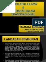 Yuanda Kusuma Lc, M. Ag - Nahdlatul Ulama Dan Gerakan Islam Transnasional