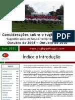 Considerações sobre o Rugby Nacional (2008-2010)