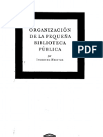 Org. de la pequeña Biblioteca pública