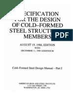 Cold Formed - Structural Design Manual Parte I