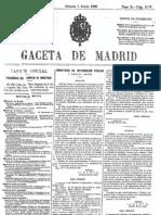 Real Decreto 1 de junio 1900. Catálogo Monumental y Artístico de la Nación. Gaceta de Madrid 2- de junio 1900