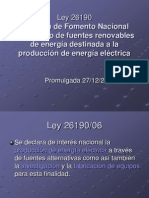 Ley 26190 y energía eólica