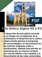 historia de la iglesia siglo XII arte gotico