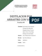 Destilacion Por Arrastre Con Vapor