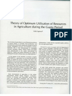 theory of optimum utilization of resources in agriculture