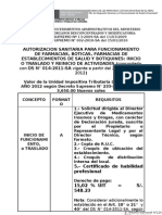Requisitos Para Autorizaciones Sanitarias 2012 Modif