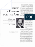 Defense for the Arts by Michael Greene