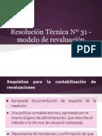 Resolución Técnica Nº 31 - Modelo de revaluación