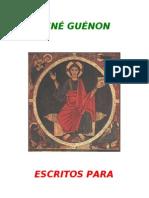 Guénon, René - Escritos para Revista Regnabit