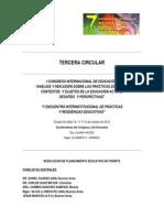 Tercera Circular   Congreso Internacional de Educación   Salta   Argentina.