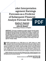 The Market Interpretation of Management Earnings Forecasts as a Predictor of Subsequent Financial Analyst Forecast Revision