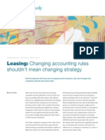 Leasing - Changing Accounting Rules