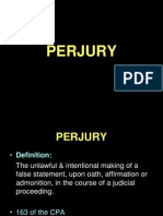 Lecture 5 - Perjury & Contempt of Court