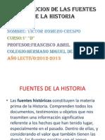 Presentacion de Historia