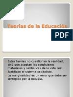Resumen Teorías de la Educación