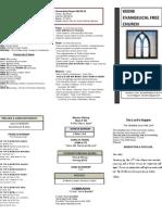 Church Bulletin- October 2012